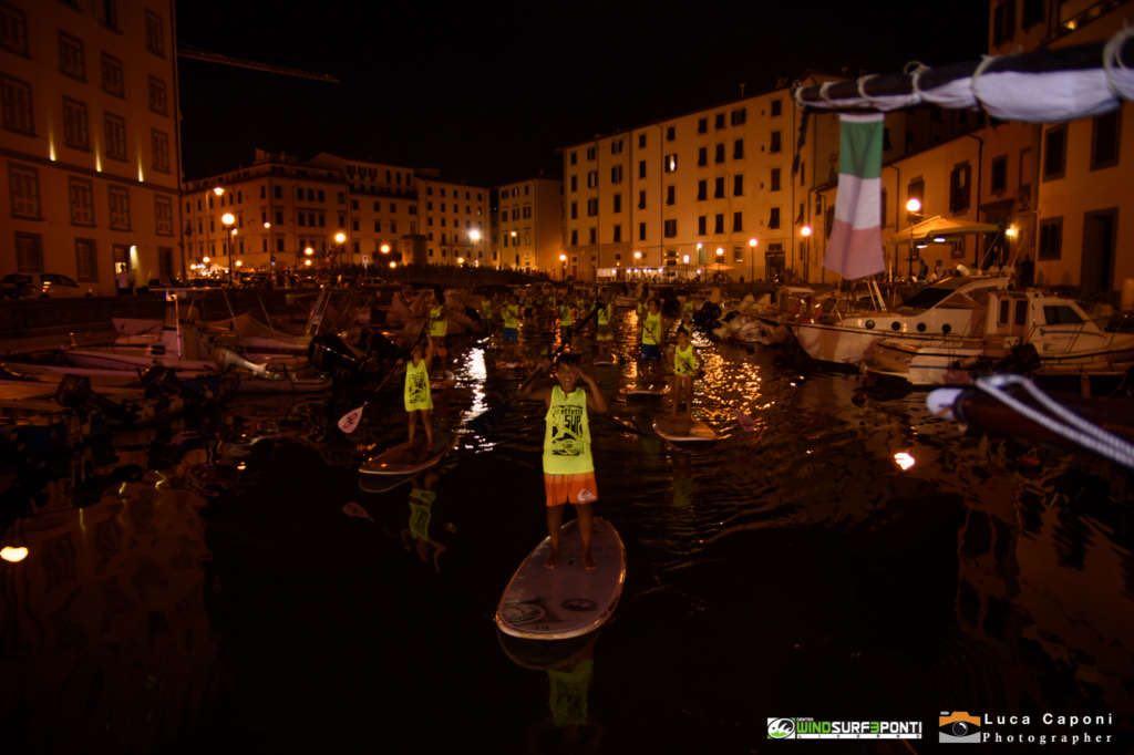 I Sup lungo i fossi di Livorno aprono Effetto Venezia (Le Foto)